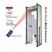 Waterproof 8 Zones Walk Through Metal Detector with Remote Control