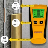 3 In 1 Metal Detector Find Metal Wood Studs AC Voltage Live Wire Detect Wall Scanner Electric Box Finder Wall Detector
